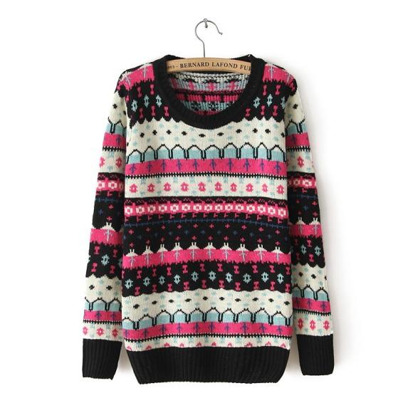 Casual Fashion Vintage Stripe Sweater [#359] on Luulla