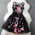 Luxury Designer Gorgeous Embroidered Lace Dress - Black on Luulla