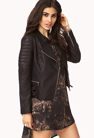 Biker Babe Faux Leather Jacket | FOREVER21 - 2000050475