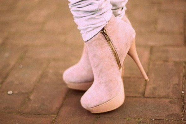 shoes nude nude shoes nude heels lovely cute fashion mode style fashionista nice beautiful look love boots heels pink peach peachy beige summer pumps me girl girl women clothes white high heels pink high heels