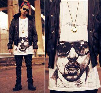 menswear kanye west yeezy dope supreme nike air foamposite pro yeezy black dope' shirt