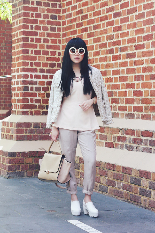 pale division sunglasses jacket t-shirt jewels pants shoes bag