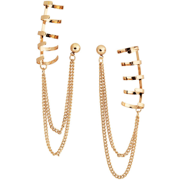 H&M Earrings with ear cuffs - Polyvore