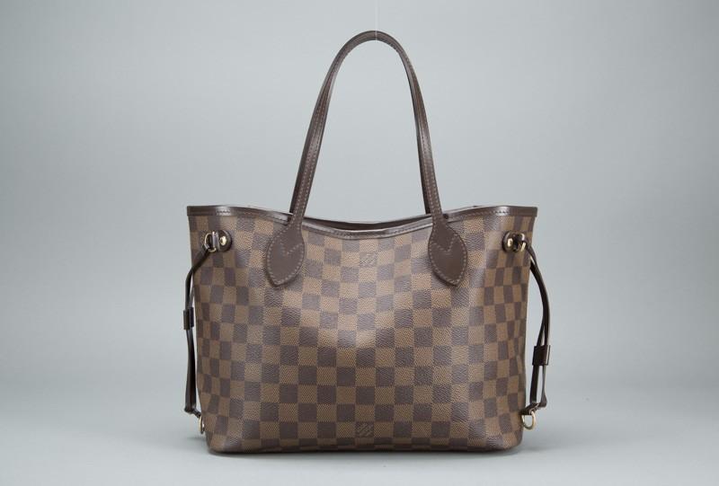 Louis Vuitton Damier Ebene Neverfull PM Bag   Portero Luxury