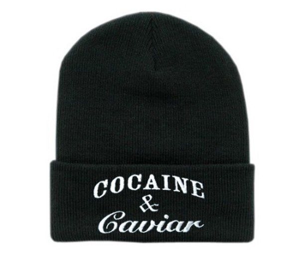 hat beanie black cocaine&caviar girl guys
