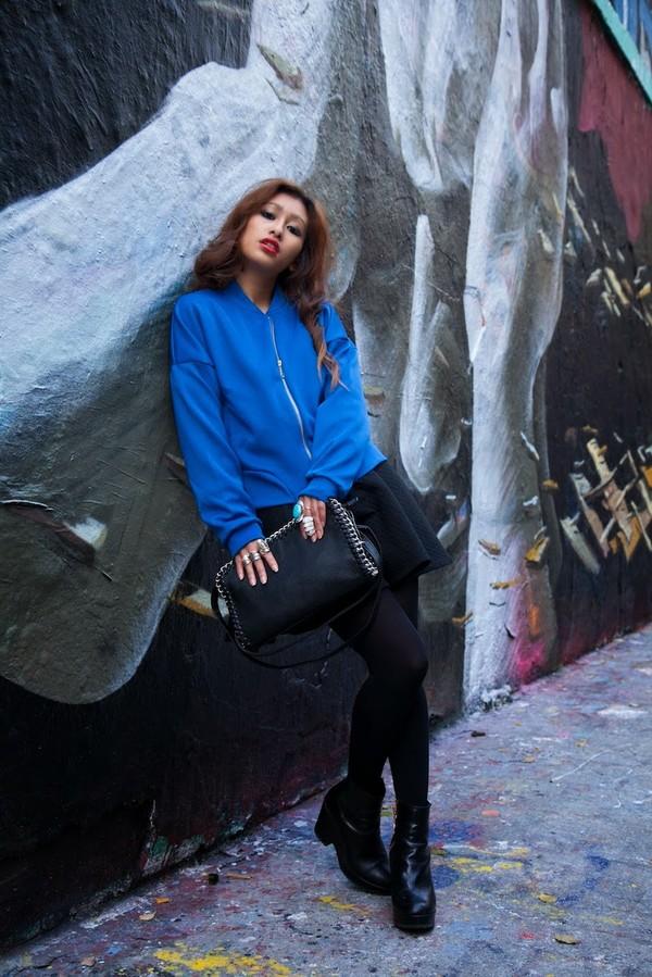 rosa pel's blog jacket skirt shoes bag