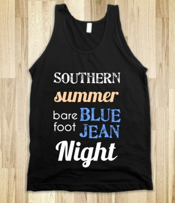 tank top jake owen blue country style music band merch summer clubwear