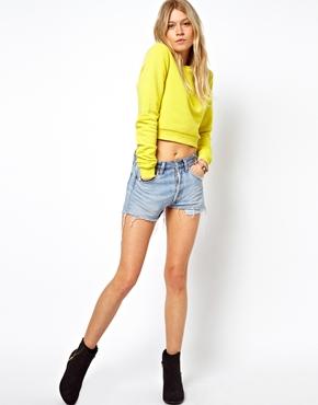 ASOS | ASOS Cropped Boyfriend Sweatshirt at ASOS