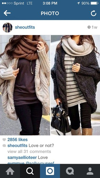 blouse cardigan sweater scarf