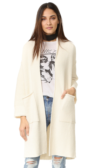 cardigan fashion clothes free people campfire cardigan shawl neckline ribbed knit