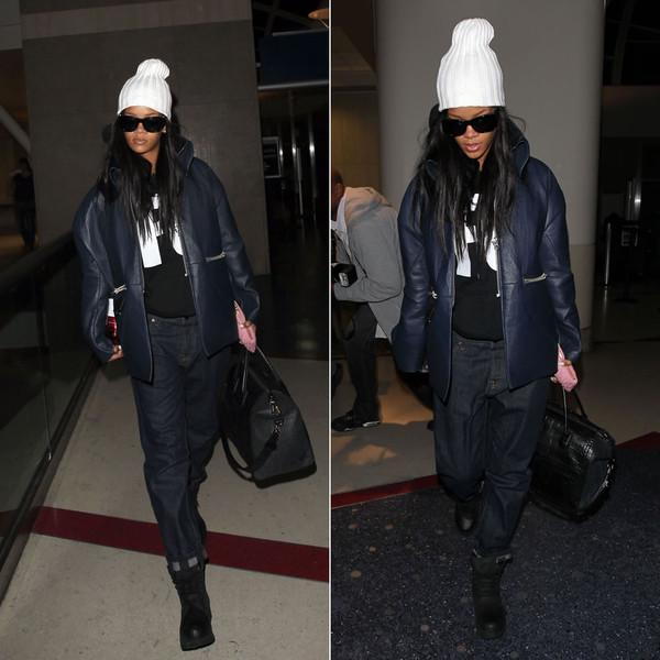 jacket rihanna jeans boots shoes bag handbag hoodie shirt