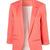Pink Boyfriend Ponte Rolled Sleeves Blazer - Sheinside.com