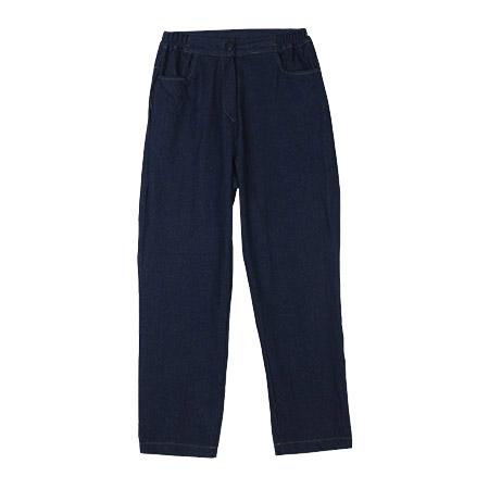 Loose Denim Pants with Elastic Waistband