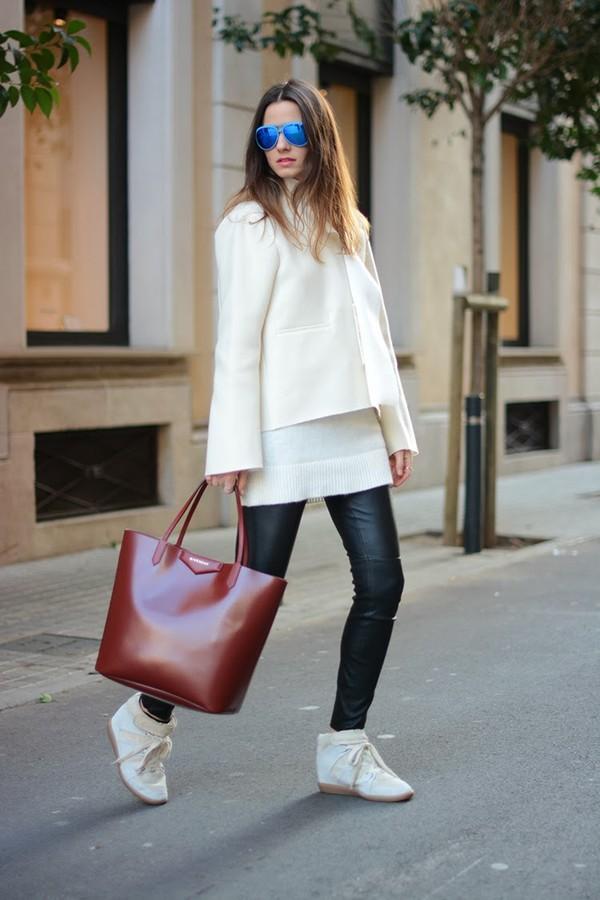 fashion vibe shoes pants bag coat jewels sweater sunglasses