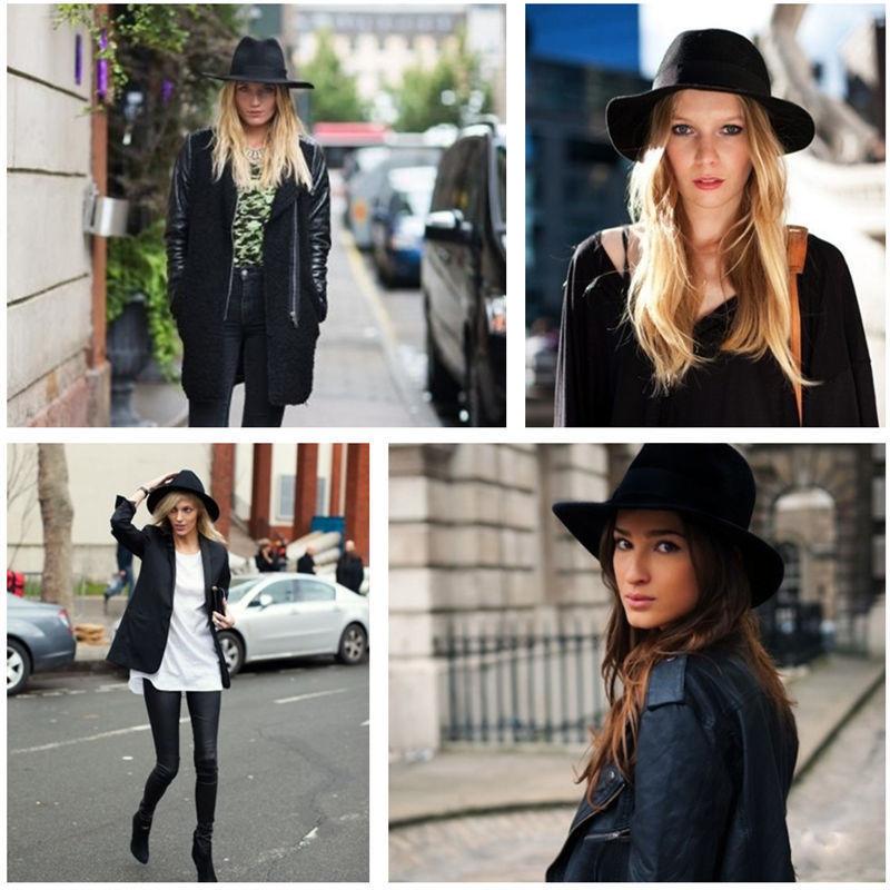 Fashion Men Women Wool Felt Soft & Crushable Safari Cowboy Fedora Hats | eBay