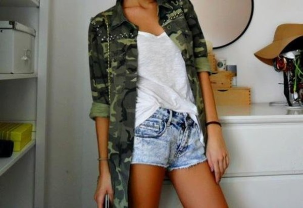 jacket clothes brands swag shorts camo jacket