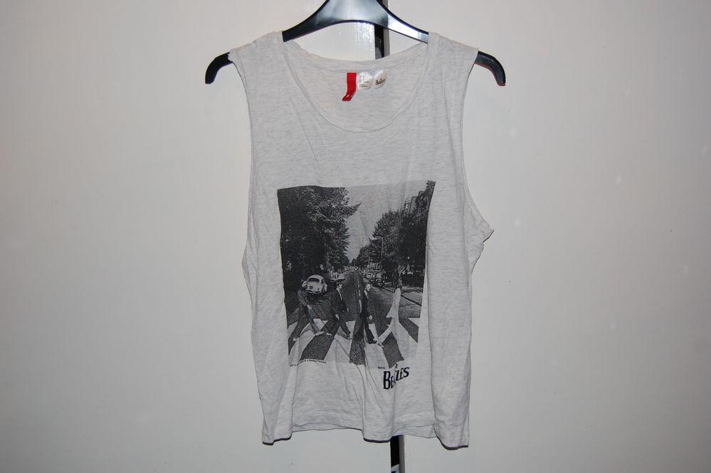 H&M Size 8 The Beatles Grey Band Tank Top Tee (Indie/Vintage Style) | eBay