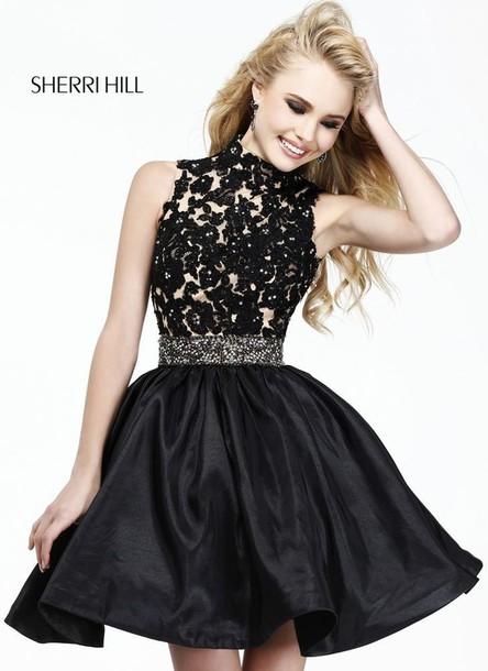 dress black lace dress black