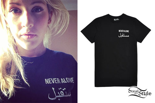 Ellie Goulding: Never Alone T-Shirt | Steal Her Style