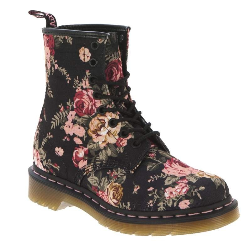 Dr. Martens Women's 1460 8 Eye Victorian Flowers Lace-Up Boot   Infinity Shoes