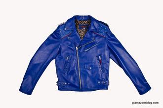 jacket menswear cobalt blue cobalt leather jacket womenswear