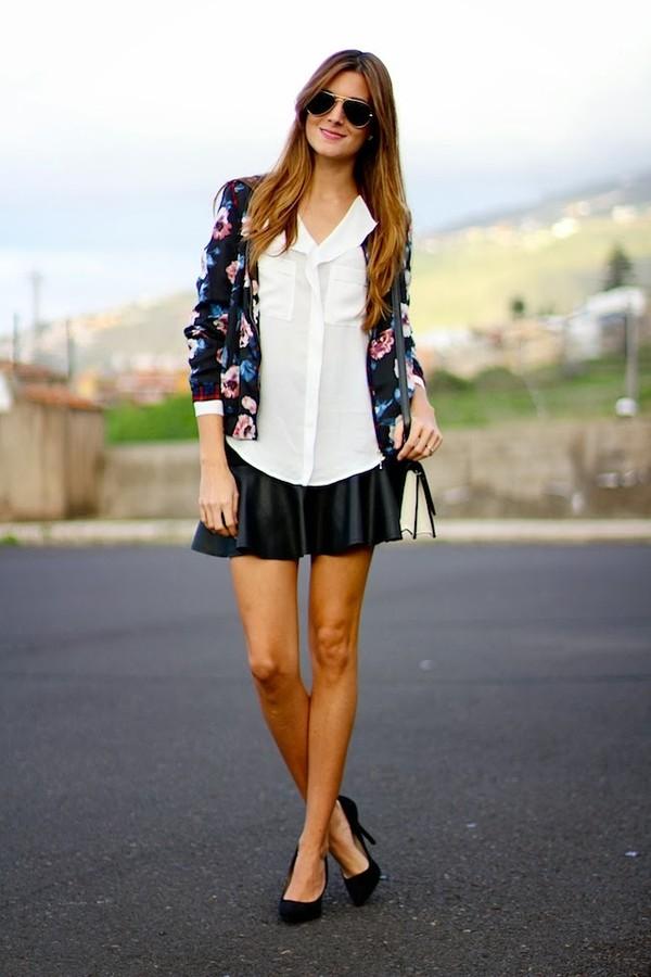 marilyn's closet blog jacket blouse skirt bag shoes