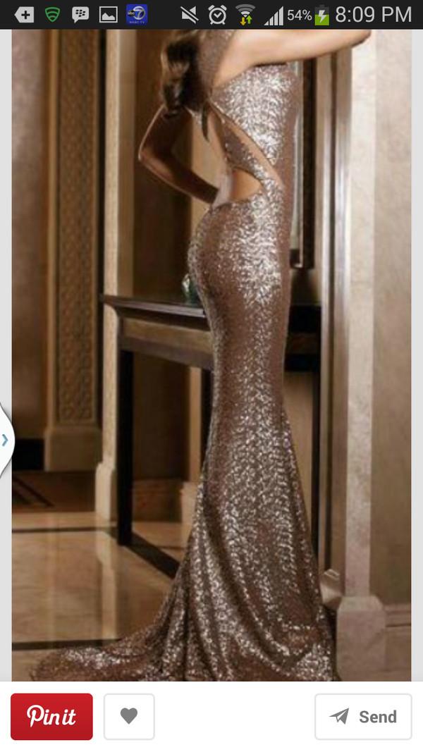 dress mermaid prom dress long prom dress prom dress gold sequins gold dress cut-out dress