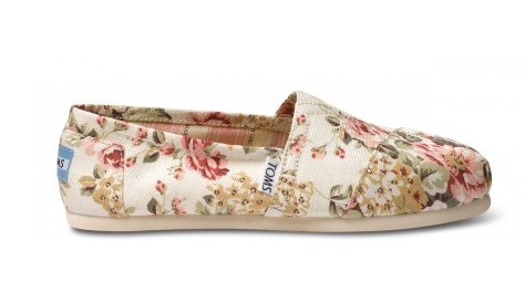 Shabby Chic TOMS   TOMS x Shabby Chic   Floral TOMS «  SHEfinds