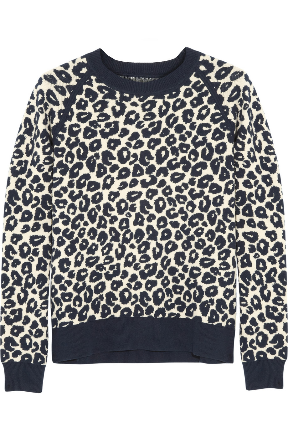 Esme leopard-print knitted sweater | Iris & Ink | THE OUTNET