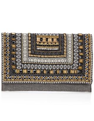 Baroque Geo Braid Clutch Bag | Multi | Accessorize
