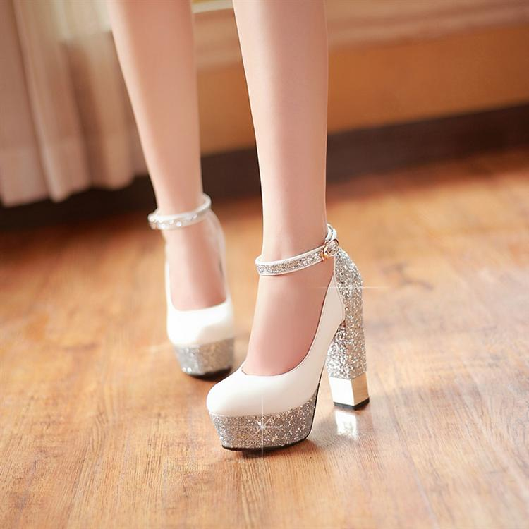 2014 Spring Autumn Princess Bling Wedding Shoes Women Sexy Pumps  Dress Shoes High Heels Shoes Ladies-inPumps from Shoes on Aliexpress.com