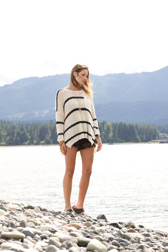 shoes blogger jewels stripes styling my life oversized sweater