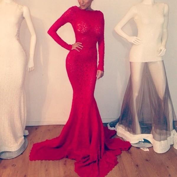 dress long red dress long dress red dress red long sleeve dress