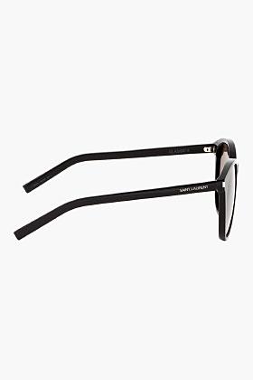 Saint Laurent Black Classic 6/s Round Sunglasses for men | SSENSE