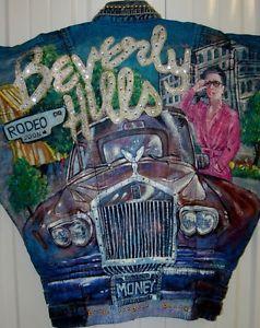 Collectible Wearable Art Tony Alamo Beverly Hills Rodeo Drive Rolls Jean Jacket   eBay