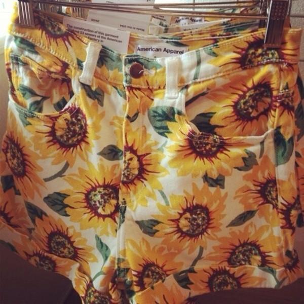 shorts sunflower american apparel