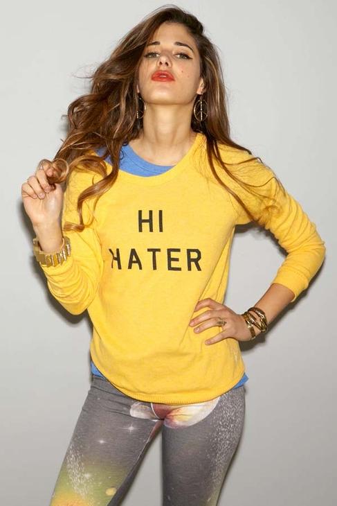 Local Celebrity HI/BYE Hater Goldstones Lounger in Gold
