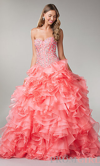 Prom Dresses, Celebrity Dresses, Sexy Evening Gowns - PromGirl: Floor Length Strapless Sweetheart Ball Gown