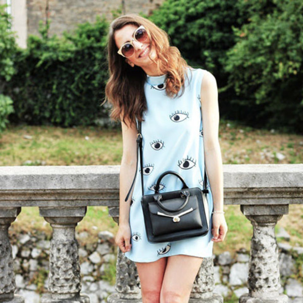 eyes dress short dress summer outfits blogger style blogger trend dress sunglasses