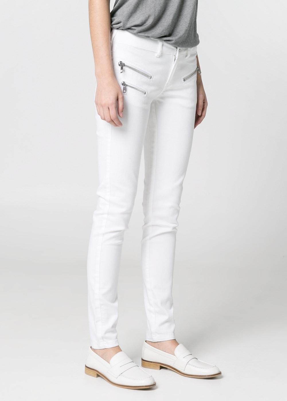 Super slim-fit Zippy jeans -    Women - MANGO