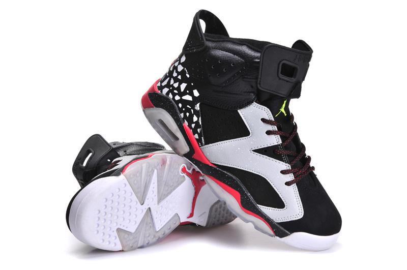 Women's Air Jordan 6 Speckle Black White Red [Women's Air Jordan 6 6] - $77.79 : Air Jordan Women Shoes, AirJordanWomen.com