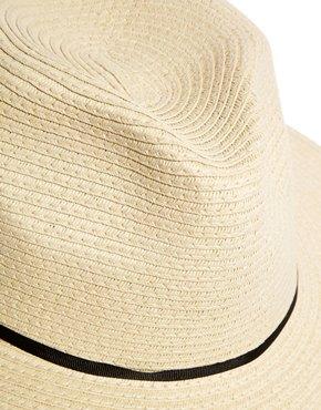 ASOS | ASOS Straw Fedora Hat With Skinny Band at ASOS