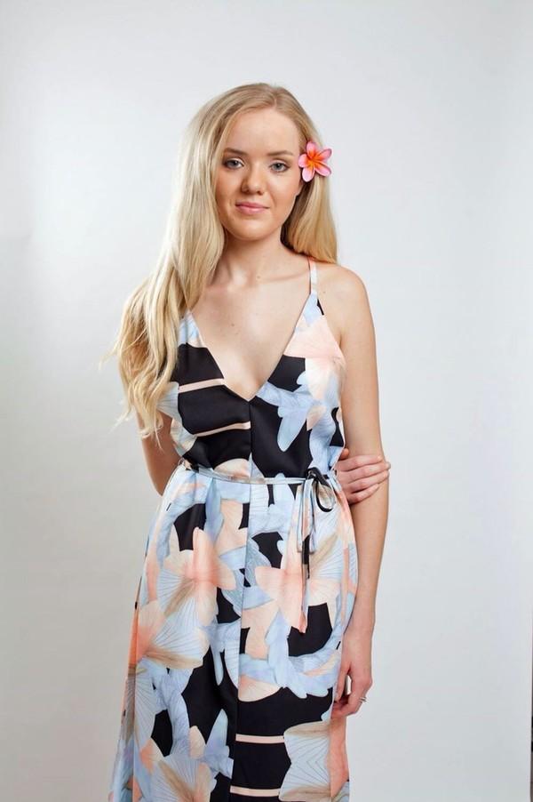 dress pretty maxi tropical slit