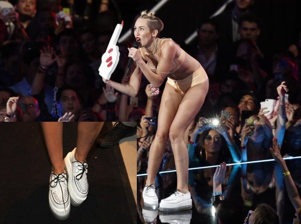 shoes platform shoes miley cyrus creepers