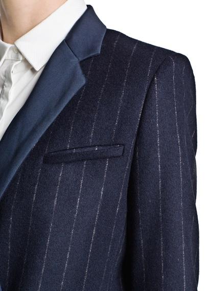 MANGO - CLOTHING - Coats - Pinstripe wool-blend coat