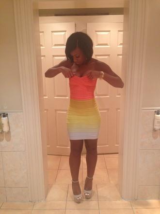 dress rainbow bodycon bodycon dress rainbow dress strapless strapless dress pleated dress pleats