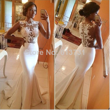 Aliexpress.com : Buy Romantic Sweetheart A Line White Lace Wedding Dresses 2014 New Fashion Floor Length Bridal Wedding Gown BO4799 from Reliable gown fabric suppliers on Suzhou Babyonline Dress Store