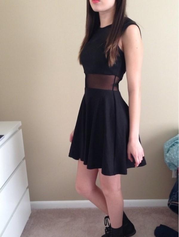 dress little black dress cut-out dress