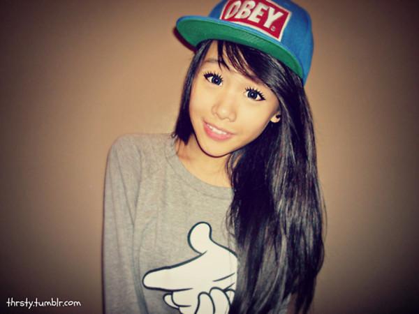 shirt obey t-shirt cap snapback