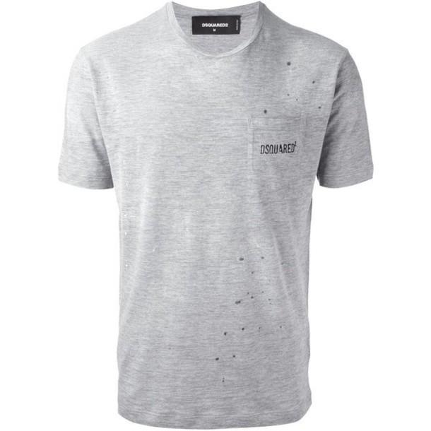 t-shirt dsquard dsquared grey t-shirt